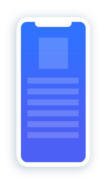 An illustration of a blank mobile device screen